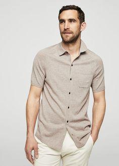 Slub-cotton shirt | MANGO MAN