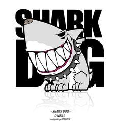 'Shark dog' brand  character design - designed by DOLDOL     Facebook.com/doldoldesign