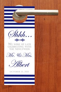 $20 for 20 #DoNotDisturb #weddingFavor #DoorHanger by http://www.bestwelcomebags.com