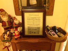 Gram's Christmas rules! Twas the night before Christmas and all through Grant street zone. Not a device was glowing not even an IPhone. The mobiles were placed in the basket with care, In anticipation that Grandmother soon would be there. Though Chele wanted to text and Jamie wanted to jam, All the guests complied with the new law of the land, No calling, Emojis, or texts would you believe - For Grandma Rosie decreed - no cell phones allowed at this Christmas Eve!