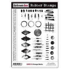 Darkroom Door - Grunge Marks - Red Rubber Cling Stamps | Topflight Stamps, LLC