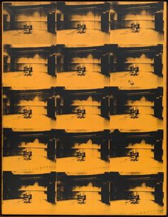 Andy Warhol, Orange Disaster, n.5, 1963. Acrilico e serigrafia su tela.