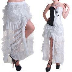 Falda de Encaje Blanca