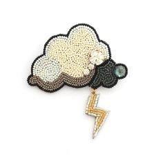. Embroidery Jewelry, Hand Embroidery Patterns, Beaded Embroidery, Beading Patterns, Beaded Brooch, Beaded Earrings, Beaded Jewelry, Brooches Handmade, Handmade Jewelry