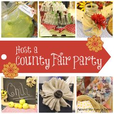 Host a County Fair Party pan pan Mateo County Fair County Fair Theme, County Fair Birthday, 1st Birthday Parties, 2nd Birthday, County Fair Decorations, Fall Birthday, Themed Parties, End Of Year Party, Party Time