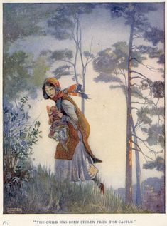 The Stolen Child | illustration by Honor C. Appleton .  From Saint George Of England by Basil Hood . 1919