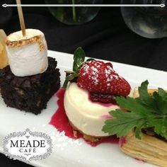 Visit Meade Cafe for our delectable desserts for that sweet tooth. From to delicious Pastries, Yummy Treats, Great Recipes, Panna Cotta, Sweet Tooth, Cheesecake, Pudding, Cakes, Ethnic Recipes
