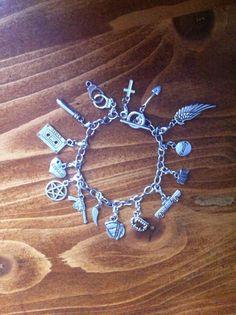 Supernatural charm bracelet by BexEverheart on Etsy