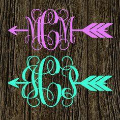 Arrow Monogram Decal | Cute Arrow Vinyl Decal | Preppy Arrow | Follow Your Arrow | Arrow Car Decal | Arrow Vinyl Sticker from MMVinylCreations.