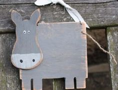 Hanging Wooden Donkey By KR Creatives - Countrified