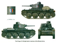 Prague LT-40 light tank of the Slovak army