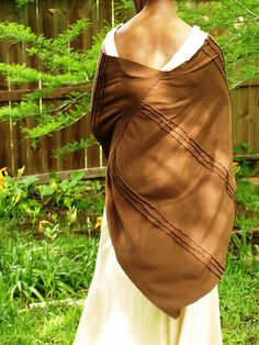 Alabama Chanin poncho and fitted tank dress Thanks! I made them!