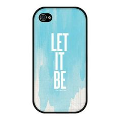 Let It Be Plastic Case - For Multiple Phone Models. #phonecases #style 9thelm.com