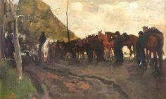 George Hendrik Breitner Halte der Artillerie or Rustende Cavalerie Kunsthandel Studio2000: Collectie