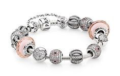 Vintage peach styled PANDORA bracelet