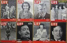 Life Magazine COVER ONLY Lot (24); 1939-1963; Movie Stars Fashion etc. | eBay