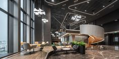 Boon Rawd Brewery Headquarters / pbm | ArchDaily Lobby Design, Art Design, Brewery Decor, Thai Design, Interior Architecture, Interior Design, Waiting Area, Empty Spaces, Reception Areas