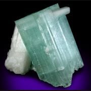 Beryl var. Aquamarine with Muscovite from Nuristan, Laghman Province, Afghanistan