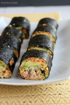Ginger Salmon Nori Rolls
