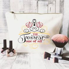 Disney Quote makeup bag Large Cosmetic bag by JustBeBohoCollective Cute Makeup Bags, Large Cosmetic Bag, Hey Good Lookin, Disney Quotes, Transfer Paper, Disney Girls, Brighten Your Day, Disney Style, Fun Prints
