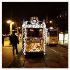 Budapest tram in the Holiday season Christmas Lights, Xmas, Christmas Countdown, Locomotive, Hungary, Budapest, Wonders Of The World, Advent, Diesel
