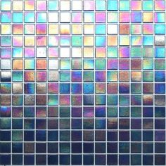 Kaleidoscope ColorGlitz Iridescent Glass Mosaic Tile, sold by the 1.15 sf sheet - Broadway Blue