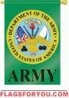 Applique Army House Flag