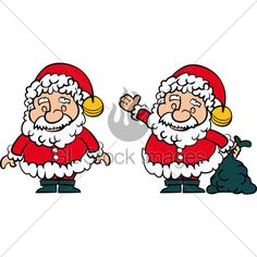 Santa set of Isolated on white Christmas Cartoon Pictures, Christmas Cartoons, Santa Clause, Cartoon Pics, Charlie Brown, Fictional Characters, Papa Noel, Fantasy Characters
