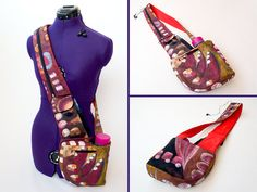 Cross-Body Hipster Bag with Water and Phone por TutorialGirl