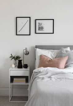 What's It Really Like to Live With Only the Essentials? 4 Minimalists Sound Off Home Bedroom, Modern Bedroom, Bedroom Decor, Bedrooms, Minimalist Living Tips, Minimalist Home, All White Room, White Rooms, Scandinavian Interior Bedroom