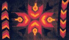 SHATRANJI - HAND MADE - RED, BLACK AND ORANGE - 92 CM BY 154 CM