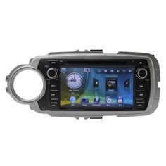 6 ''Емкостный Сенсорный Экран HD Автомобильный Радио Dvd-плеер Для Toyoto Yaris 2012 Bluetooth Мультимедиа RDS Система Радио swc Двойной DIN
