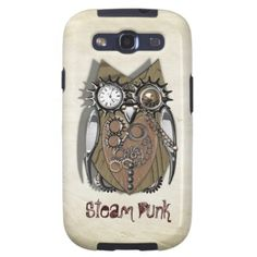 Steam Punk Mechanical Cute Owl Picture  A fabulous design in Steam Punk style this cute metallic/wood effect cute owl with his pocket watch eye, cogs chains and studs in shades of brown and silver, a great look for a quality phone case.