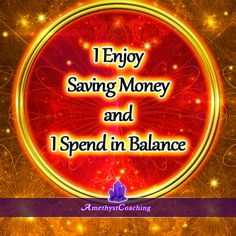 Today's Affirmation: I Enjoy Saving Money And I Spend In Balance <3 #affirmation #coaching