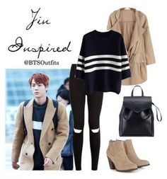 """Jin Inspired Outfit"" by btsoutfits ❤ liked on Polyvore featuring New Look, Chicwish, Call it SPRING and Loeffler Randall"
