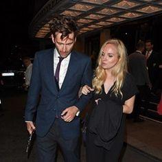 David Tennant and his wife Georgia Moffett leave TV Choice Awards
