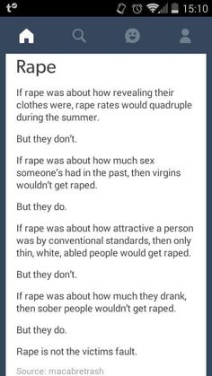 It is not the victim's fault. #RapeCulture