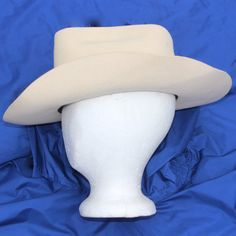 950c9f9adfb Vintage Eddy Bros WHITE Cowboy Hat 6-7 8 Western by ThePuppeTree White  Cowboy