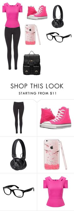 """""""Untitled #47"""" by tokyocity7 on Polyvore featuring Maison Scotch, Converse, Master & Dynamic, Ray-Ban, Roland Mouret and Sole Society"""
