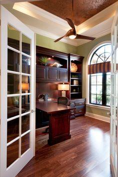 Traditional Home Office - Raymond Design Studio - Naples, Florida