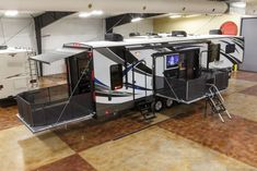 Auto Level, Generator, Fuel Station, W/D Prep, 2 Decks, New 2016 40D12 4 Season Side Deck Slide Out Luxury 5th Fifth Wheel Toy Hauler for $72,999.00, free shipping #fifth #wheel #hauler #luxury #slide #side #deck #season