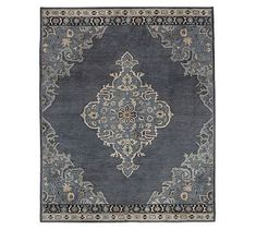 Moroccan-style tile patterns were the inspiration for this hand-tufted wool rug. The allover scroll motif is tufted in creamy ivory over a solid ground for a versatile look that goes well with a variety of furnishings and decor. Wool Rug, Diy Carpet, Plush Rug, Rugs, Pottery Barn, Oversized Rugs, Persian Style Rug, Persian Area Rugs, Throw Rugs