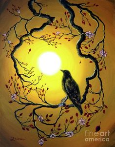A Raven Remembers Spring Painting