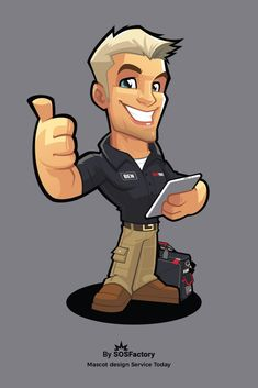 Mascot design I created for Service Today stickers, your local trusted tradie! Chibi Sketch, Smiling Cat, Cartoon Logo, Mascot Design, Logo Ideas, Logos, Hockey, Character Design, Batman