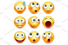 Smiley,emoticon set. Yellow face with emotions. Facial expression. 3d realistic emoji. Sad,happy,angry faces.Funny cartoon character.Mood. Web icon. Vector illustration.. Best Objects