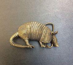 Vintage Bergamot Brass Works 1980 Texas Armadillo Figural Belt Buckle Made n USA  | eBay
