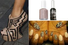 DIY Nail Art Inspired By Giuseppe Zanotti's Tribal Heel-Less Shoes