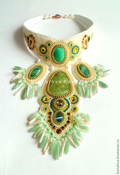 Embroidered Jewelry by Ksenia Burzalova (part 1) | Beads Magic