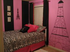 Posh Paris Room, I created this space for my daughter who wanted a Paris themed bedroom., Girls Rooms Design
