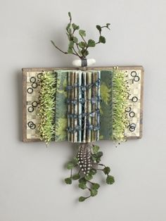 Shield Book: Once Upon a Time, mixed media folded altered book by Sharon McCartney